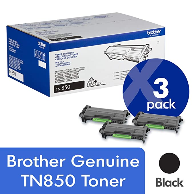 Brother Genuine TN850 3-パック ハイ Yield ブラック Toner Cartridge with Approximately 8,000 ページ Yield/Cartridge (海外取寄せ品)