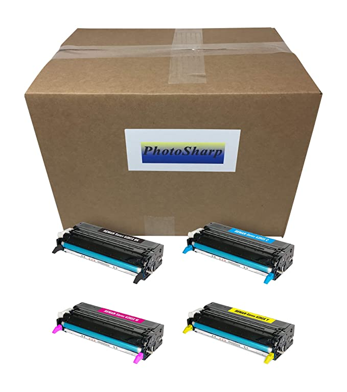 4 ジェネリック Generic Phaser 6280 6280N 6280DN ブラック & カラー Ink Toner Cartridge for Xerox (Black/シアン/Magenta/Yellow)106R01395 106R01392 106R01393 106R01394 106R01391 106R01388 106R01389 106R01390 Laser Printer (海外取寄せ品)