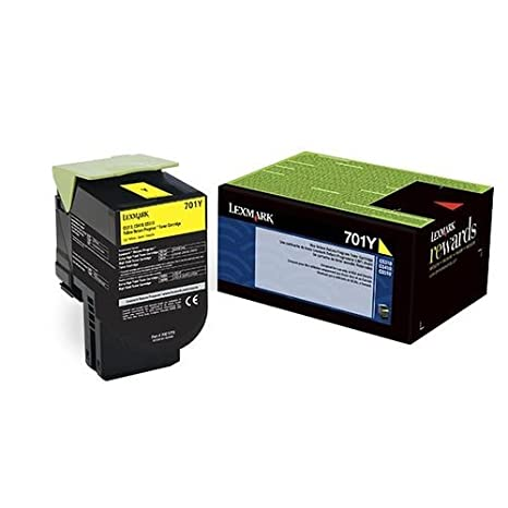 Lexmark イエロー Return Program Toner Cartridge for US Government, 1000 Yield (70C00YG) (海外取寄せ品)