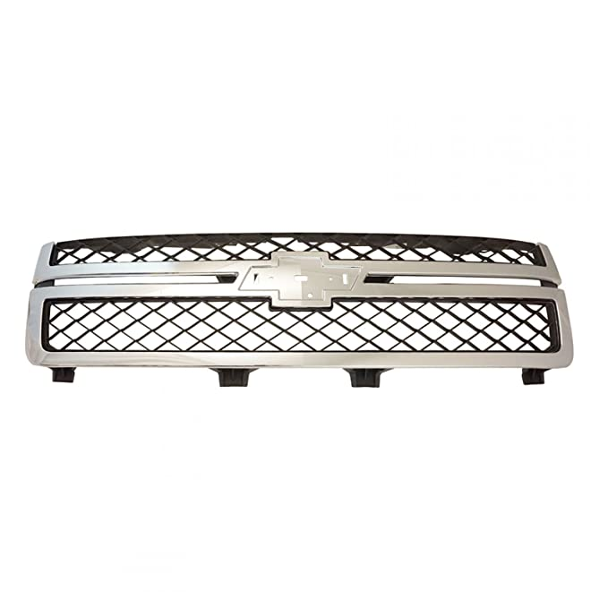 Grille ダーク グレー & クローム for 11-13 Chevy Silverado 2500HD 3500 (海外取寄せ品)
