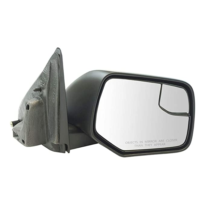 Exterior Power Heated w/Blind Spot ガラス ミラー ブラック RH Side for Ford (海外取寄せ品)