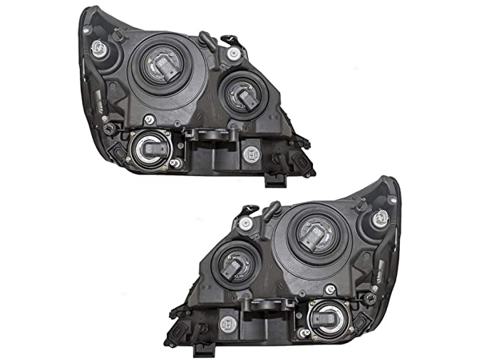 Headlights Headlamps for 01-03 RX300 クローム リプレイスメント Left Right セット (海外取寄せ品)