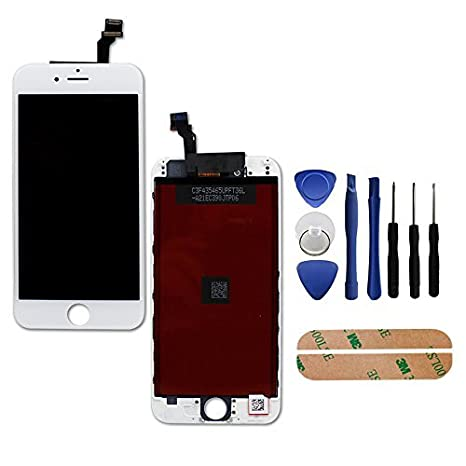 PassionTR Iphone 6(4.7) digitizer assembly ガラス スクリーン リプレイスメント LCD with repair tool キット + instruction card (white) (海外取寄せ品)[汎用品]