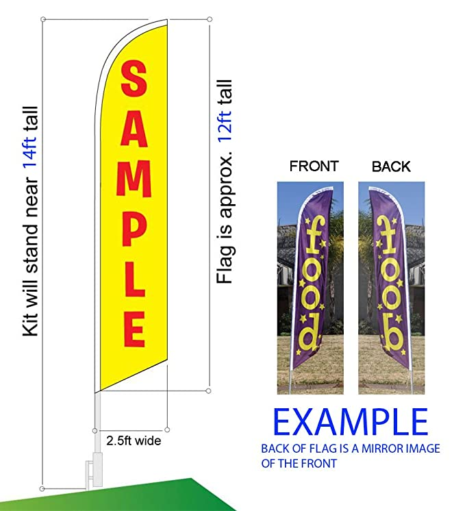 Comida Mexicana Advertising フェザー フラグ Banner Swooper Sign, リプレイスメント フラグ オンリー (海外取寄せ品)[汎用品]