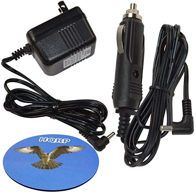 HQRP キット Car Charger and AC Adapter Compatible with VXI ブルー Parrott 203664 052030 502030 BlueParrott B250-XT, B250-XT+ Wireless ヘッドセット, Roadwarrior, ブルー-パロット PL602030 + Coaster (海外取寄せ品)[汎用品]
