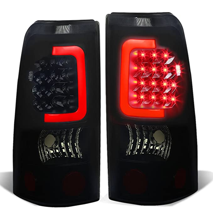 DNA Motoring TL-CSIL99-LED-RD3D-BK-SM 3D LED Tail Light Assembly (Driver & Passenger Side) (海外取寄せ品)[汎用品]