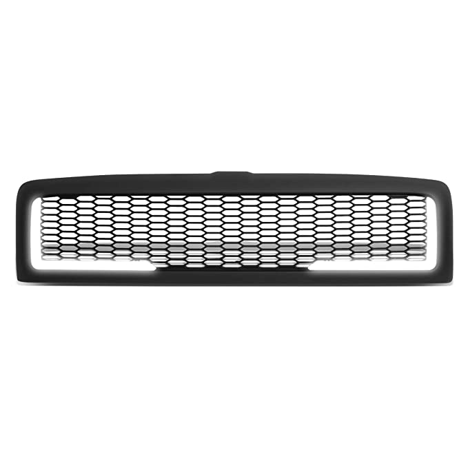 DNA Motoring GRF-LB-005-MBK-1 LED DRL マット メッシュ フロント Bumper Grille グリル リプレイスメント (海外取寄せ品)[汎用品]
