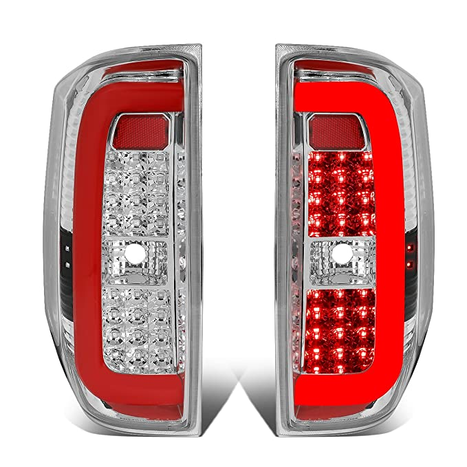 DNA Motoring TL-TTU15-LED-RD3D-CH-CL ペア レッド 3D LED Bar Tail Light [for 14-18 Tundra] (海外取寄せ品)[汎用品]