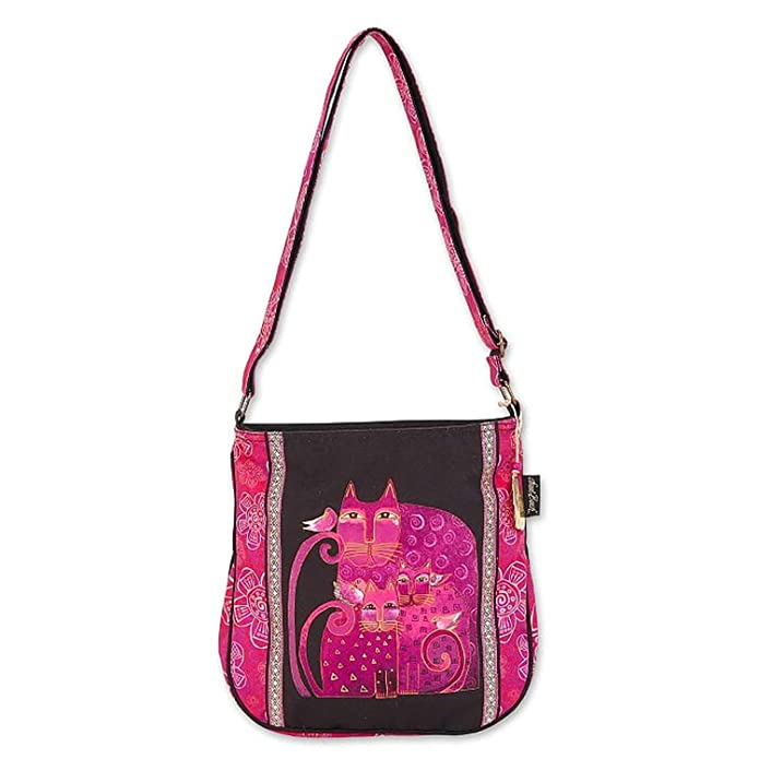 ローレル バーチ Laurel Burch Magenta Felines 11x12 N/S Crossbody トート ? LB6682 『海外取寄せ品』