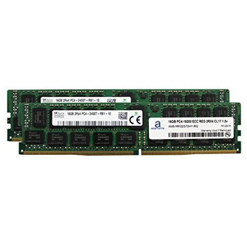 Hynix オリジナル 32GB 2x16GB Server Memory Upgrade for SuperMicro SuperServers DDR4 2400MHZ PC4-19200 ECC レジスター チップ 2Rx4 CL17 1.2v DR