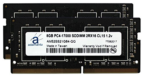 Adamanta 16GB (2x8GB) Laptop Memory Upgrade for MSi GL62 6QD 002CZ DDR4 2133 PC4-17000 SODIMM 2Rx16 CL15 1.2v ノート RAM (海外取寄せ品)