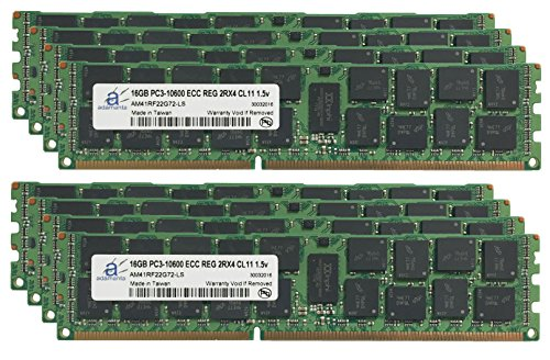 Adamanta 128GB (8x16GB) Server Memory Upgrade for Quanta コンピューター QCT STRATOS S200-X12TS DDR3 1333 PC3-10600 ECC レジスター 2Rx4 CL9 1.5v RAM (海外取寄せ品)
