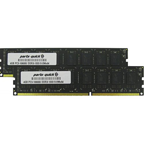 8GB (2 X 4GB) Memory Upgrade for Biostar A960D+ Motherboard DDR3 PC3-10600 1333MHz DIMM RAM (PARTS-クイック BRAND) (海外取寄せ品)
