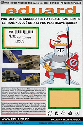 Eduard Photoetch 1:35 - Panther Ausf. D Zimmerit Virtical (TAM35345) - (EDP36330) (for use with the Tamiya model kit) MODEL キット アクセサリー (海外取寄せ品)