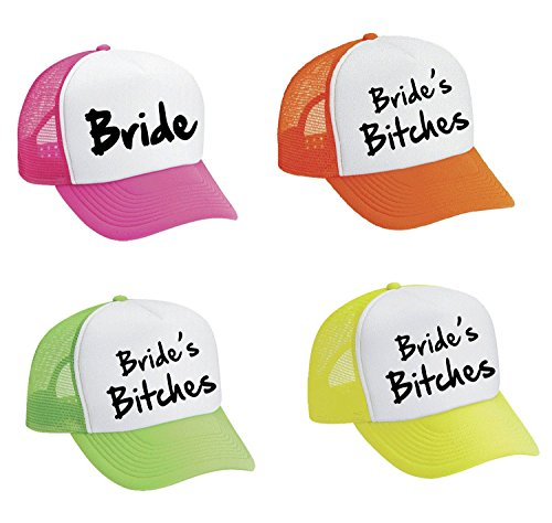 Allntrends Snapback ハット セット Of 4 Bride And Bride's Bites (海外取寄せ品)