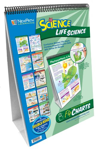 NewPath Learning 10 ピース Mastering Middle スクール Life Science Curriculum Mastery フリップ Chart セット, Grade 5-9 (海外取寄せ品)