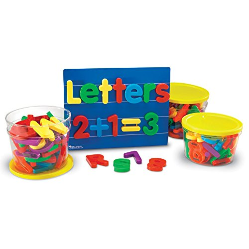 Learning Resources ジャンボ Magnetic Letters & ナンバー コンボ セット (海外取寄せ品)