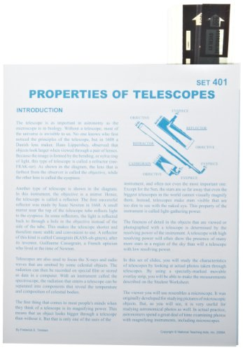 アメリカン Educational Properties Of Telescopes Astroslide Chart セット (Box of 30) (海外取寄せ品)