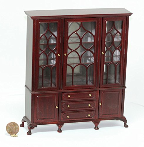 Dollhouse ミニチュア Mahogany Chippendale Dining Room Cabinet (海外取寄せ品)
