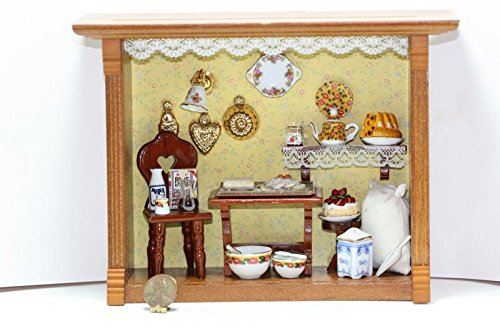 Dollhouse ミニチュア Kitchen インスパイアー Room ボックス by Reutter Porcelain (海外取寄せ品)