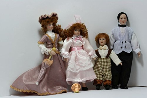 Dollhouse Victorian 1:12 ドール セット of 4 in ファンシー Clothing (海外取寄せ品)