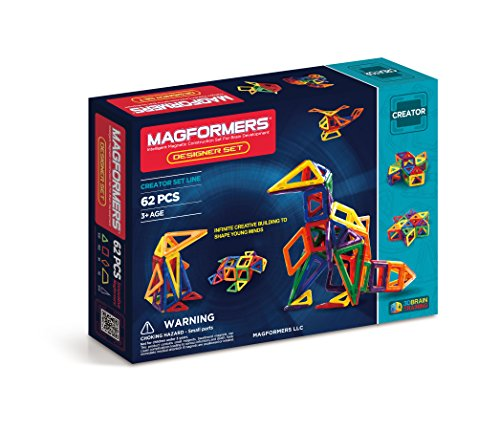Magformers Magnetic Building Construction セット - 62 ピース デザイナー セット (海外取寄せ品)