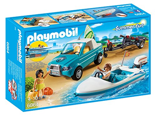 PLAYMOBIL Surfer Pickup with Speedboat (海外取寄せ品)