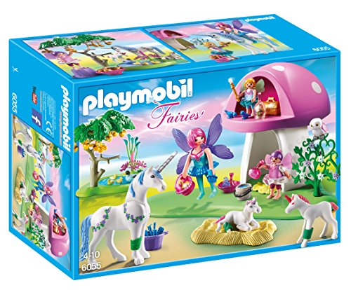 PLAYMOBIL Fairies with Toadstool ハウス Building キット (海外取寄せ品)