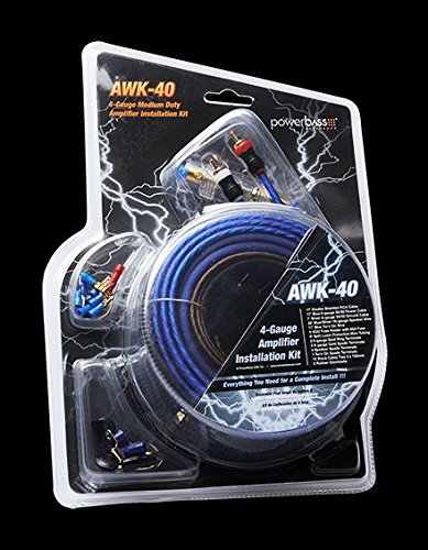 PowerBass AWK40 4 ゲージ Amp Wiring Install キット (海外取寄せ品)
