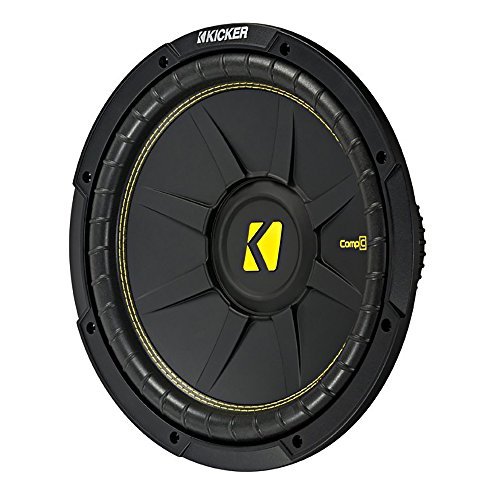 Kicker 12 インチ CompC 1200 ワット 4 Ohm シングル Voice Coil SVC Subwoofer | 44CWCS124 (海外取寄せ品)