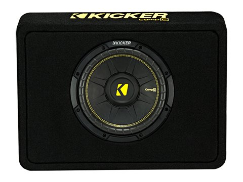 Kicker 10-インチ CompC 2-Ohm Loaded Shallow Subwoofer ボックス Enclosure | 44TCWC102 (海外取寄せ品)