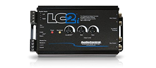 AudioControl LC2i 2 Channel ライン アウト Converter Wwith AccuBASS and Subwoofer Control (海外取寄せ品)