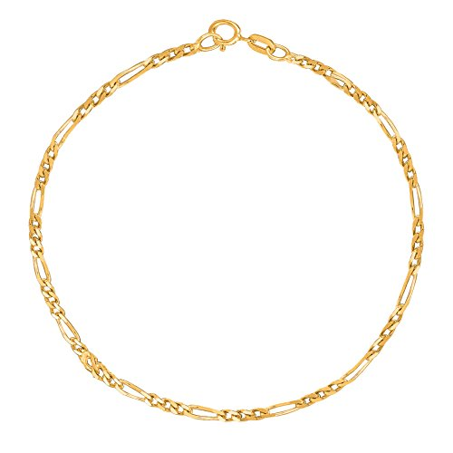 <title>14K Real イエロー ゴールド Figaro チェーン Anklet 入荷予定 10 インチ 1.9 Mm 海外取寄せ品</title>