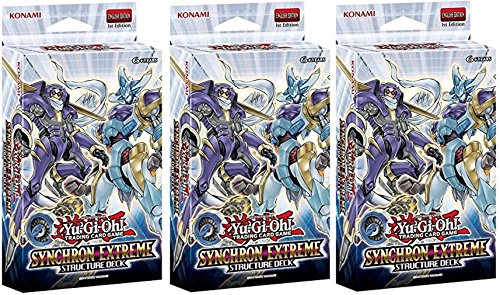 Lot of THREE(3) 遊戯王 Card ゲーム SYNCHRON EXTREME English 1st Edition Structure Decks! (海外取寄せ品)
