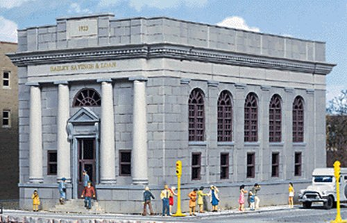 Walthers Cornerstone HO Scale ベイリー Savings and Loan Structure キット (海外取寄せ品)