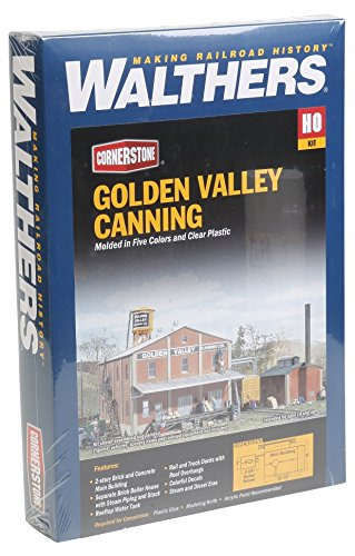 Walthers Cornerstone HO Scale ゴールデン Valley Canning カンパニー Structure キット (海外取寄せ品)