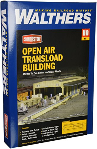 Walthers Cornerstone Series キット HO Scale オープン エアー Transload Building (海外取寄せ品)