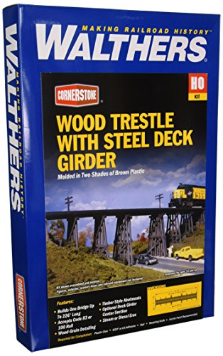 Walthers Cornerstone Series キット HO Scale Trestle w/スチール デッキ Girder ブリッジ (海外取寄せ品)