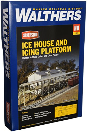 Walthers Cornerstone Series キット HO Scale アイス ハウス and Icing プラットフォーム (海外取寄せ品)