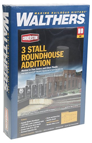 Walthers Cornerstone Series キット HO Scale モダン Roundhouse Add-On Stalls (海外取寄せ品)