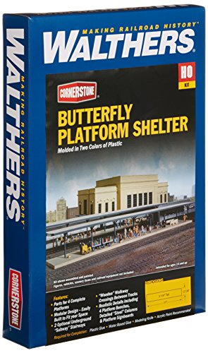 Walthers Cornerstone Series キット HO Scale バタフライ-スタイル Station プラットフォーム Shelters (海外取寄せ品)