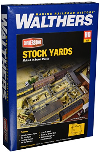 Walthers Cornerstone Series キット HO Scale Stockyard (海外取寄せ品)
