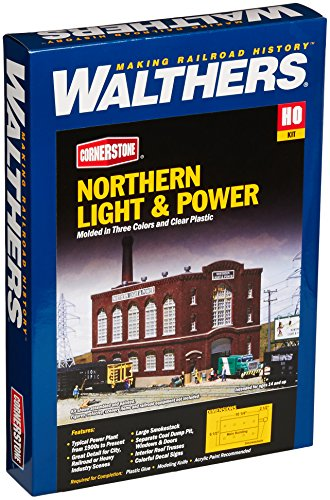 Walthers Cornerstone HO Scale Northern Light and Powerhouse Structure キット (海外取寄せ品)