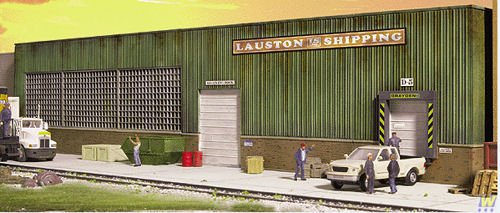 Walthers Cornerstone HO Scale Lauston Shipping Background Building (海外取寄せ品)