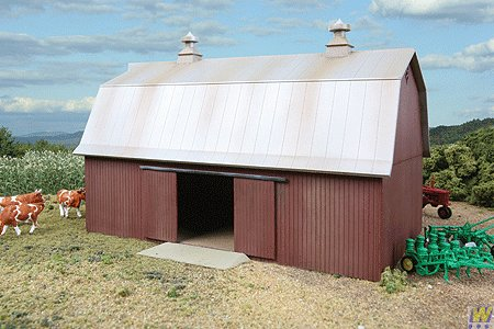 Walthers Cornerstone Rural USA - Meadowhead Barn Plastic キット (海外取寄せ品)