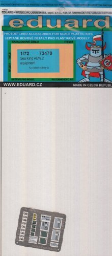 EDU73470 1:72 Eduard Photo Etch Equipment Detail セット for the 1:72 CyberHobby シー キング AEW.2 Helicopter model キット by Eduard (海外取寄せ品)