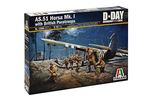 Italeri Models AS 51 Horsa MK.I with British Paratroops Airplane Model Building キット (海外取寄せ品)