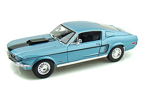 1968 Ford Mustang GT コブラ ジェット, ブルー - Maisto Special Edition 31167 - 1/18 Scale Diecast Model Toy Car (海外取寄せ品)