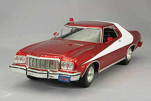 GreenLight Artisan Starsky & Hutch Ford Gran Torino Vehicle (1:18 Scale), レッド クローム (海外取寄せ品)