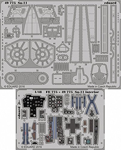 EDU49775 1:48 Eduard カラー PE - Su-11 Fishpot Detail セット (for use with the HobbyBoss model kit) [MODEL キット ACCESSORY] (海外取寄せ品)